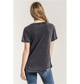 z supply the cut out v neck tee