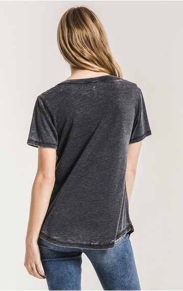 z supply z supply the cut out v neck tee