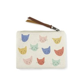 cat heads coin pouch