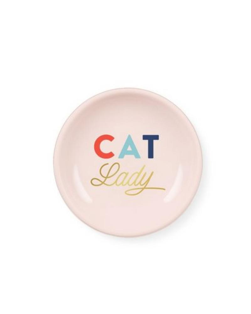 fringe studio fringe cat lady mini round tray