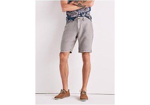 Lucky Brand Laguna Linen Flat Front Short Charcoal