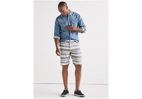 Lucky Brand Lucky Brand Linen Stripe Flat Front Short