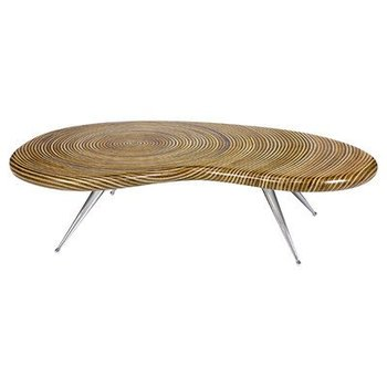 "Oggetti Showtime Kidney Table- 54""W x 30""D x 13""H"