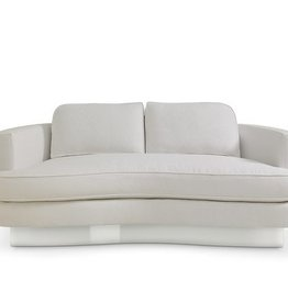 Bolier Cubist Curve Sofa- Stainless Steel Base