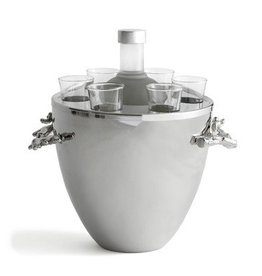 Michael Aram Ocean Coral Vodka Service/Ice Bucket