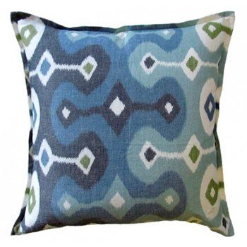 "Ryan Studio Darya Sky Pillow- Linen 22""sq."