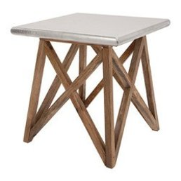 "Roost Aluminum Clad Side Table 20""Sq."