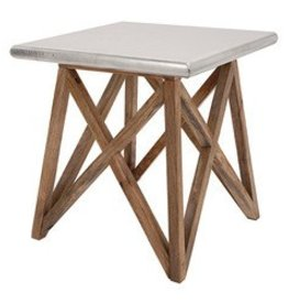 """Roost Aluminum Clad Side Table 20""""Sq."""
