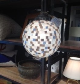Custom Mosaic Glass Pendant Light