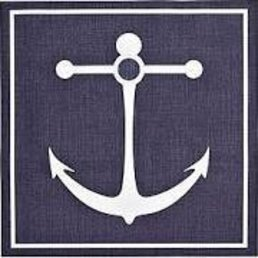 Harman Anchor Placemat 14x14 Blue