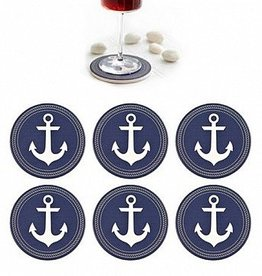 Harman Anchor Ceramic Coasters Blue