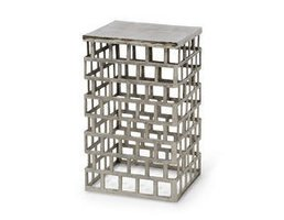 Palecek Emmet Side Table Silver