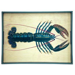 Rockflowerpaper Blue Lobster Tray- 15x20