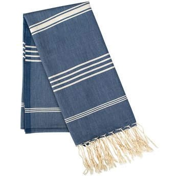 Rockflowerpaper Fouta Cotton Navy Towel/Throw