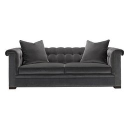 Hickory Chair Kent Sofa w/Nailheads & Bench Cushion