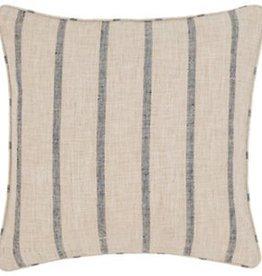 """Dash & Albert Glendale Stripe Navy/Brown 22"""" Indoor/Outdoor Pillow"""