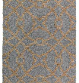 Classic Rugs Wool/Jute Marlow Rug in Blue/Natural 5x8