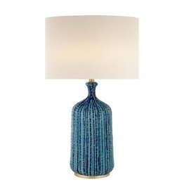 Visual Comfort Culloden Table Lamp in Pebbled Aquamarine