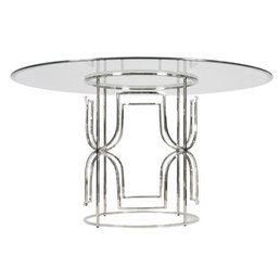"Worlds Away Jennifer Table 42"" Glass Top"