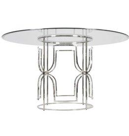 "Worlds Away Jennifer Table 42"" Glass Top"