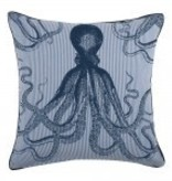 "Thomas Paul/Rahulia Octopus Seersucker PIllow- 22""x22"""