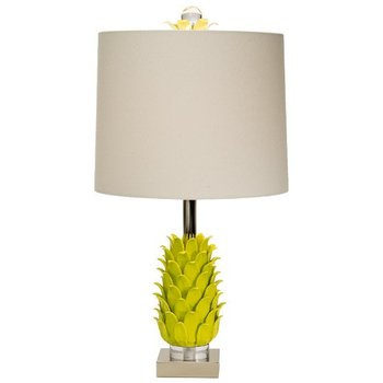The Natural Light Paradise Palm Lamp- Limeade