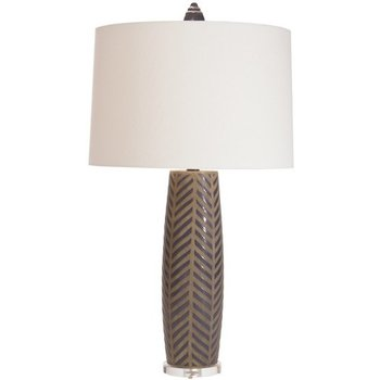 The Natural Light Herringbone Iconic Lamp