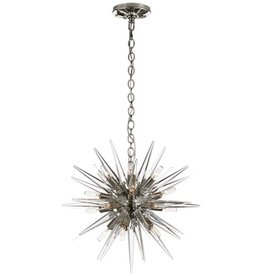 Visual Comfort Quincy Small Sputnik Pendant- Polished Nickel