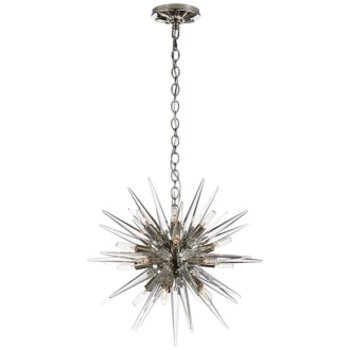 Visual Comfort Quincy Small Sputnik Pendant- Polished Nickel