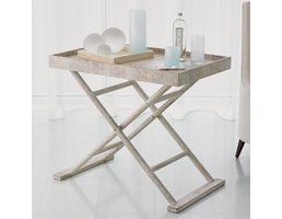 Global Views Driftwood Butler's Tray Table