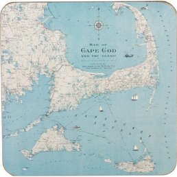 Rockflowerpaper CC Map Coasters S/4