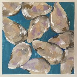 Grace Windsor Oyster Painting  Acrylic on Canvas 6x6