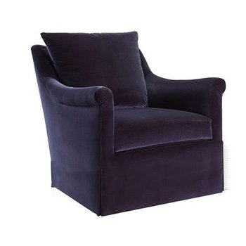 Hickory Chair Jules Low Profile Swivel Chair