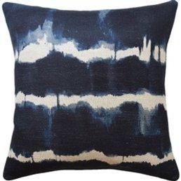 "Ryan Studio Baturi Indigo Pillow 22""x22"""
