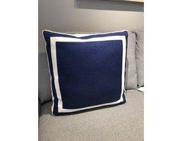 Ryan Studio Giorgio Linen Elliott Pillow Pacific/White 20x20