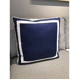 Ryan Studio Giorgio Linen Elliott Pillow Pacific/White 20x20