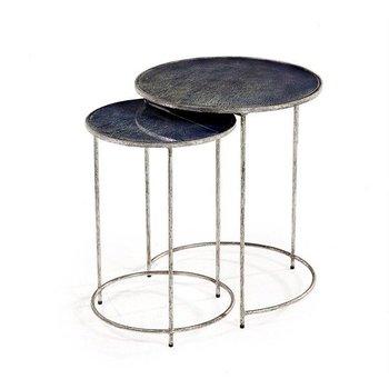 Interlude Maci Round Nesting Tables- Cobalt