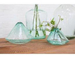 Accent Decor Pyramid Vase- Small