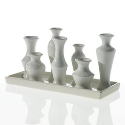 Accent Decor Chic Vase- White
