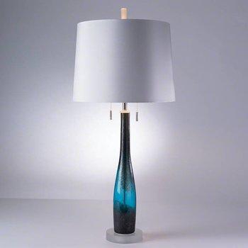 Global Views Metalic Blue Lamp