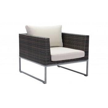 Malibu Arm Chair- Brown & Beige
