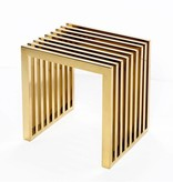 Interlude Lark Slat Stool- Polished Brass