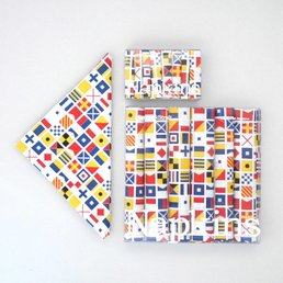 Harvey&Strait Napkin Signal Flags Set/6