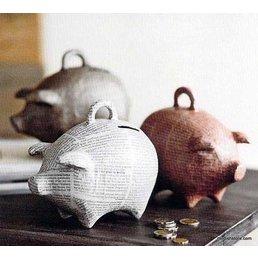 Roost Papier Mache Piggy Bank