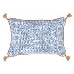 Lacefield Designs Palma Wedgewood 13x19 Pillow w/ Jute Tassels