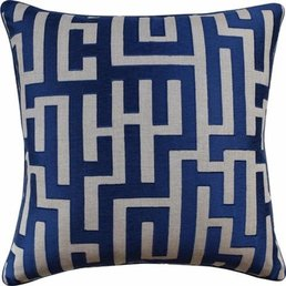 "Ryan Studio Chic Geo Indigo Pillow 22""x22"""