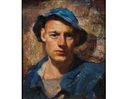 Vintage Self Portrait Oil- Hatch