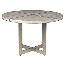 Classic Home Cerused Wood/Nickel Dining Table 48""