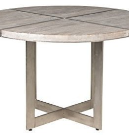 """Classic Home Cerused Wood/Nickel Dining Table 48"""""""