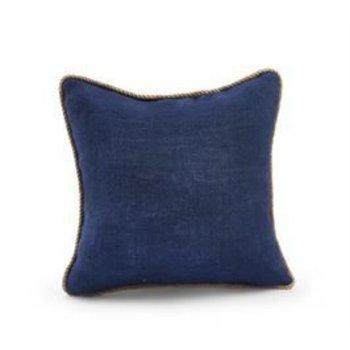 Mud Pie Navy Burlap Pillow